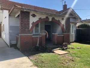 Brick veranda rebuild job in Coburg